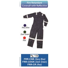 Fire Retardant Coverall with Reflective FRR-CNB