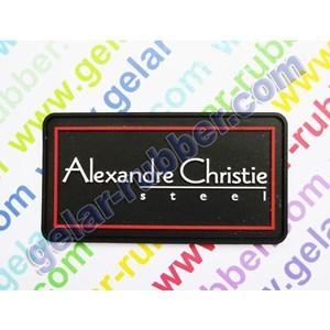 Label Karet Alexandre Christie Steel