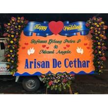 Wedding cethar arisan flower board