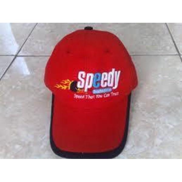 Topi promosi bahan drill royal