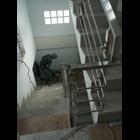 list tangga / raling tangga tiang penjepit pipa stainlis 2