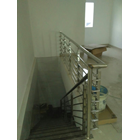 list tangga / raling tangga tiang penjepit pipa stainlis 3