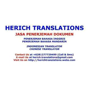 Terjemahan Mandarin By Herich Translations