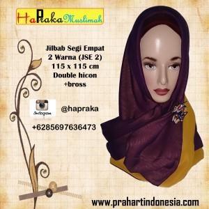 Jilbab Seigi Empat Dua Warna