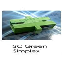 Adaptor SC Green Simplex