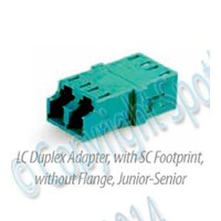 Adapter LC Duplex with SC Footprint
