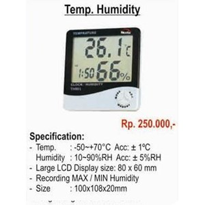 Thermohyrometer Hygrometer Thermometer
