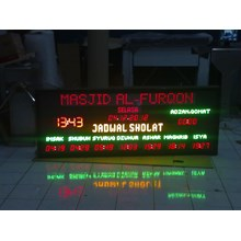 LED Display Jadwal Sholat 60 X 170