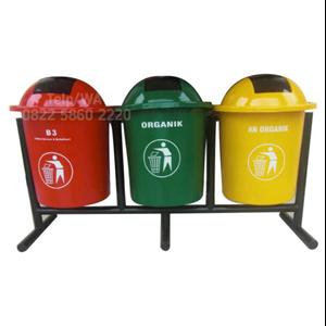Tempat Sampah Besar Bulat Pilah 3 Triple
