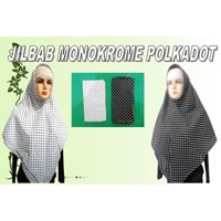 JILBAB MONOKROME POLKADOT