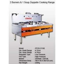 2 Burner & 1 Soup Zeppelin Cooking Range