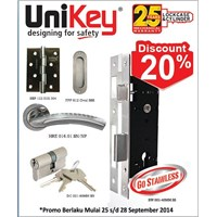 Jual Lockcase Stainless Unikey