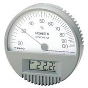 Hair Hygrometer With Digital Thermometer Highest II