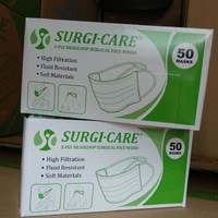 FACEMASK SURGICARE HEADLOOP G'50