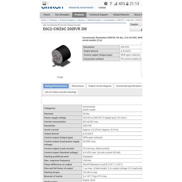 Rotary Encoder 200 P.R (Omron)