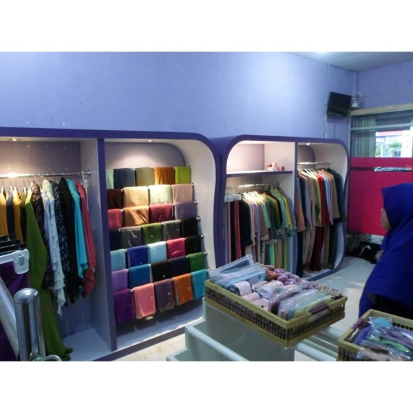 Showcase Display rack Display Garment Muslim Hijab Veil Gamis ... | cv furniture outlet
