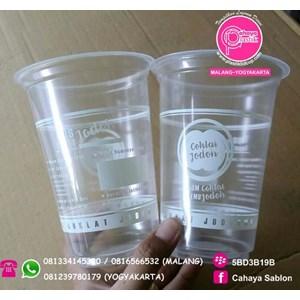 Cetak plastik  ( Sablon Gelas )