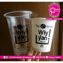 Sablon Paper Cup dan Gelas plastik