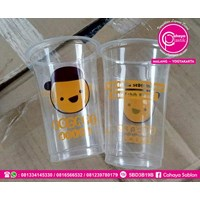 Sablon Cup Gelas Plastik 2 warna  1