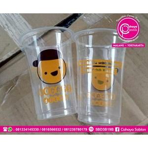 Sablon Cup Gelas Plastik 2 warna