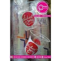 Sablon gelas plastik 12 oz  1