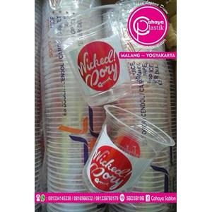 Sablon gelas plastik 12 oz