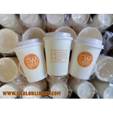Sablon Paper Cup 8 Oz hot