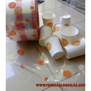 Sablon Paper Cup dan Plastik lid seal