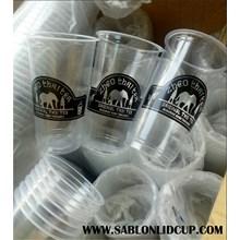 Sablon Gelas Plastik 22 oz ( gelas thaitea)