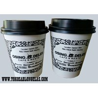 Sablon Paper Cup hot 9 oz  1