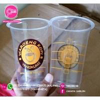 Sablon Gelas Plastik 16oz 2 warna  1