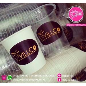 Sablon Paper Cup dan Gelas Plastik 2 warna
