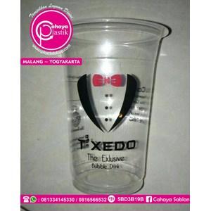 Sablon Gelas Plastik 2warna