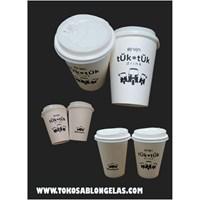 Sablon Paper Cup 12 oz (panas & dingin)
