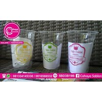 Gelas Plastik Sablon 1