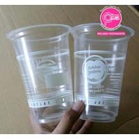 Sablon Gelas Plastik keliling 16 oz  1