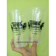 Sablon Gelas Plastik 22 oz ( thai tea )
