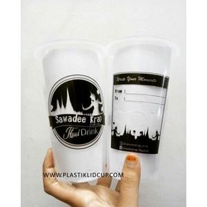 Sablon Gelas Plastik 22 oz ( Thai Tea)