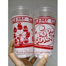Sablon Gelas Plastik 22 oz ( Cup Popcorn )