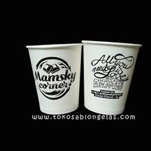 Sablon Paper Cup 9 oz ( Cup minuman panas )