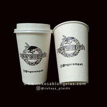 Sablon Paper Cup 16 oz ( Cup minuman panas )
