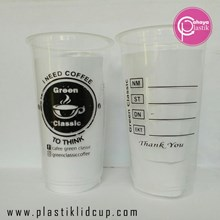 Sablon Gelas Plastik 22 oz ( Gelas Kopi Dingin)