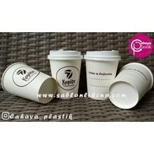 Sablon paper cup 8 oz ( Cup kopi )