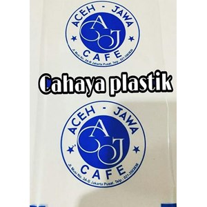Sablon plastik lid sealer 1 warna