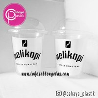 Sablon Gelas Plastik 12 oz 7 gram (Cup Coffee) 1