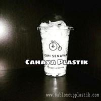 SablonGeelas Plastik 16  oz  7 gram (Gelas Kopi Dingin)  1