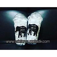Sablon Gelas Plastik 22 oz (Cup Thai Tea)
