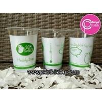 Sablon Gelas Plastik Melingkar 16 oz 7 gram