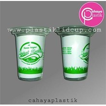 Sablon Melingkar  Gelas Plastik 170 ml
