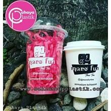 Sablon Cup plastik 14 oz dan Paper Cup 9oz